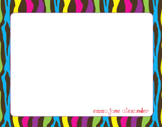 personal stationery - Colorful Zebra at Minted.com
