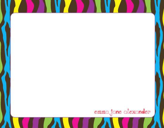 Free Bright Colored Border Designs