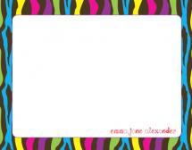 Colorful Zebra by Jenn Z