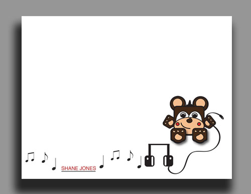personal stationery - Music Bear by Danielle  Kasony