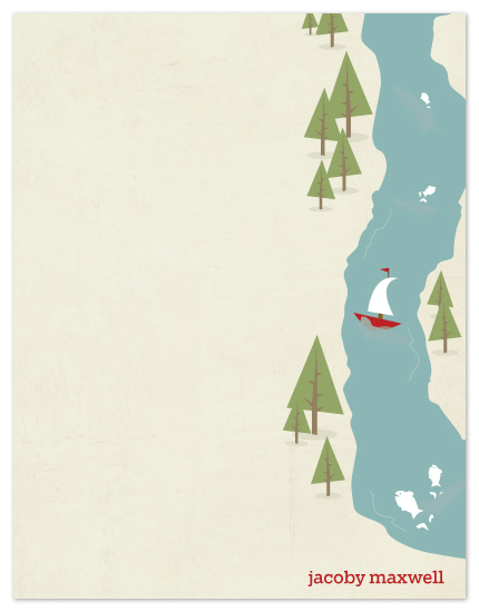 personal stationery - Fish Tales & Campfires by AJCreative