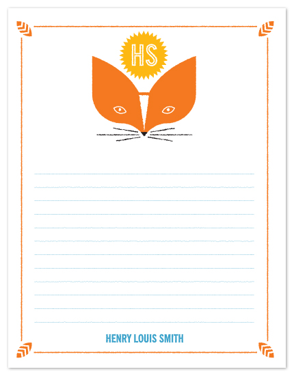 personal stationery - Foxes Note by Corey David Helling