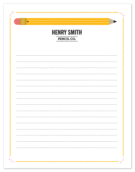 personal stationery - Pencil Co. by Corey David Helling