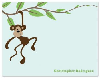 Monkey Swinging on Vine