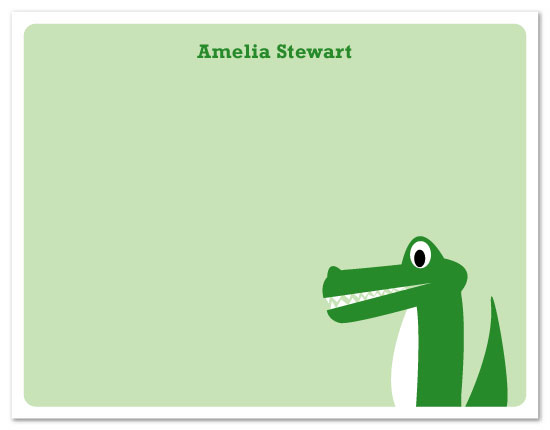personal stationery - Alligator by Nicki Davis