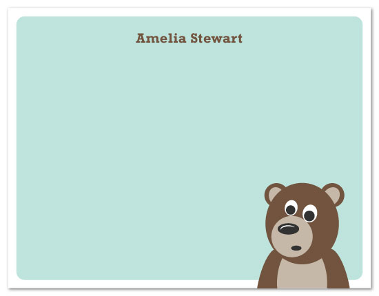 personal stationery - Brown Bear by Nicki Davis