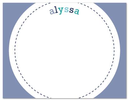 personal stationery - Stitched Circle Note by Nicki Davis