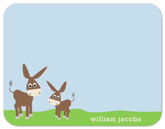 personal stationery - Donkeys by Nicki Davis