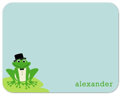personal stationery - Frog Prince by Nicki Davis