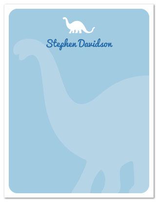 personal stationery - Brontosaurus by Nicki Davis