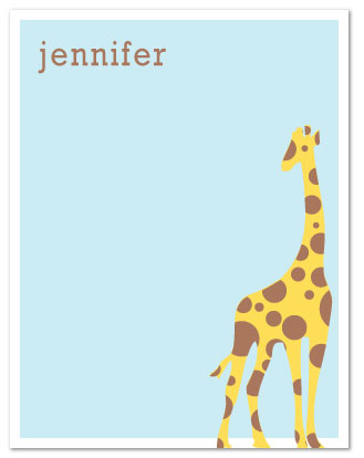 personal stationery - Spot the Giraffe by Nicki Davis