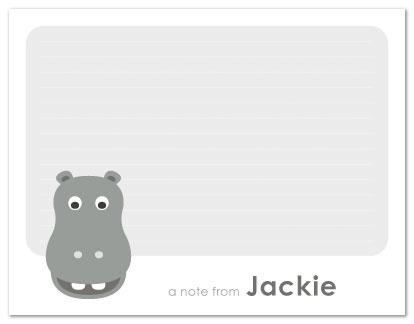 personal stationery - A Hippo Hello by Nicki Davis
