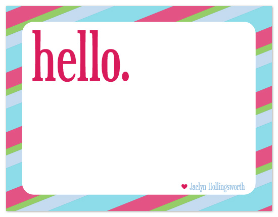 personal stationery - Quick Hello by Susan Crispell