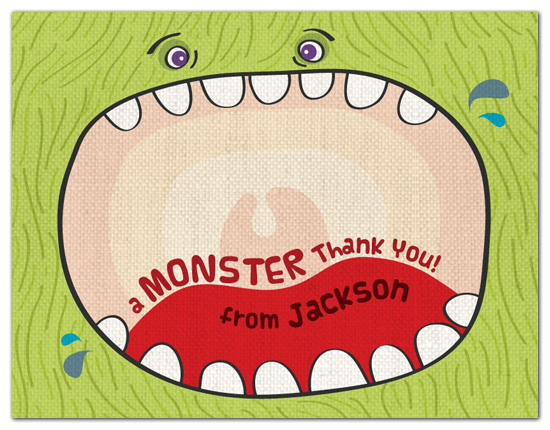 personal stationery - A Monster Thank You by Rachel Mense