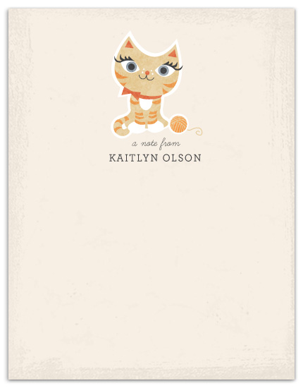 personal stationery - Meooow! by Kristen Smith