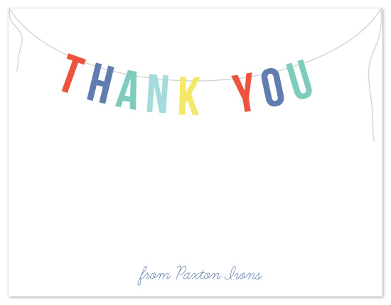 personal stationery - Thank You Banner by Maria E