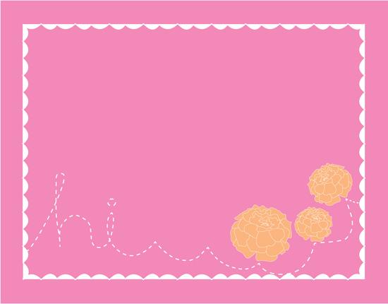 personal stationery - marigold blosssom by Gunjan Srivastava