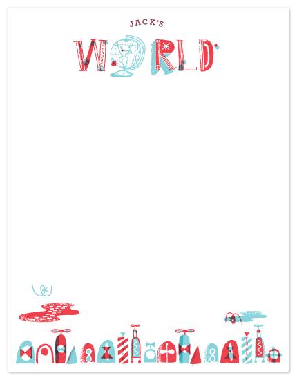 personal stationery - My World by ERAY