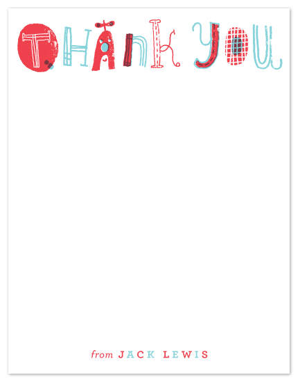 personal stationery - Quirky Thank You by ERAY