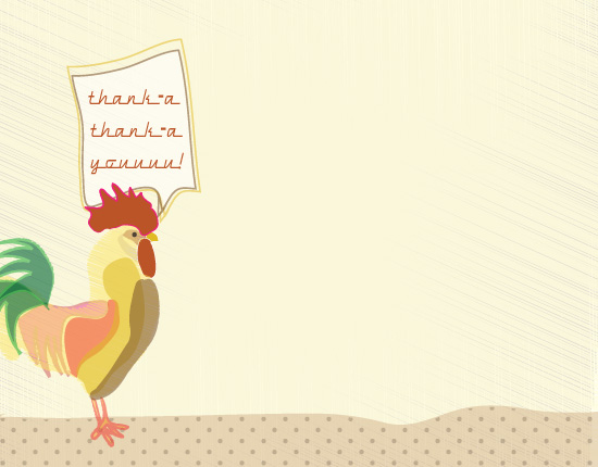 personal stationery - retro rooster by a la amore
