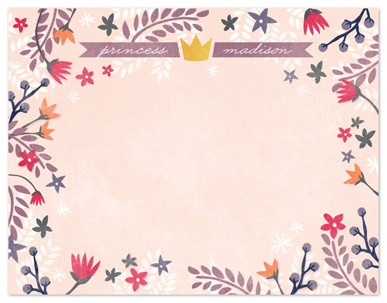 personal stationery - Princess Garden by Snow and Ivy