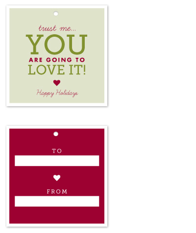 gift tags - Trust Me by Sandra Picco Design