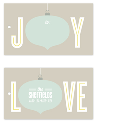 gift tags - joy and love by Guess What Design Studio