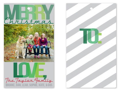 gift tags - a green Christmas by a la amore