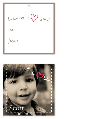 gift tags - Because I Heart You by Kate Terhune