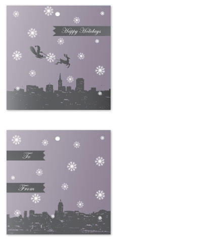 gift tags - Snowy Night by Christie Au