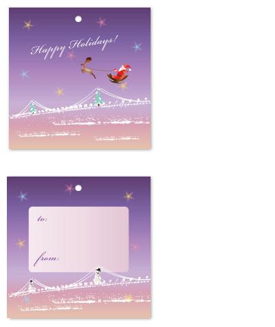 gift tags - Starry X'mas Night by Christie Au