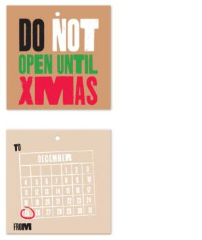 Do Not Open Gift Tag