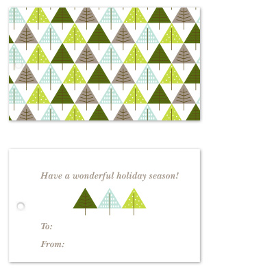 gift tags - Trees and More Trees by Sharon Rowan