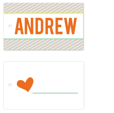 gift tags - Modern Pinstripe by Rebekah Canavan
