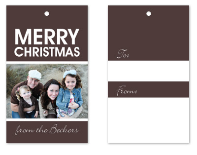 gift tags - Warm holiday wishes by mb design