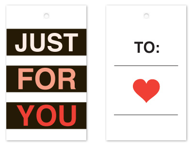 gift tags - Just For You by Rebekah Canavan