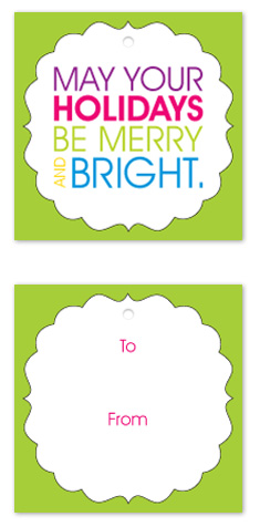 gift tags - Merry and bright by mb design