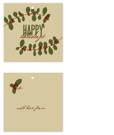 gift tags - Holly and Holidays by Jen Wawrzyniak