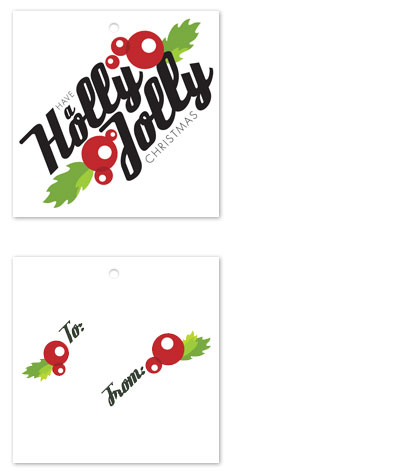 gift tags - Holly Jolly Berries by Mountain Paper