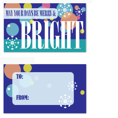 gift tags - Merry and Bright by Christy de la Torre