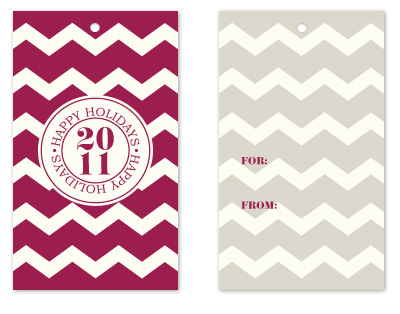 gift tags - Chevron by Christy de la Torre