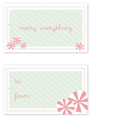 gift tags - sweet peppermints by Noma and Dolly
