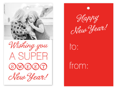 gift tags - Super Sweet New Year by Lulubean Designs