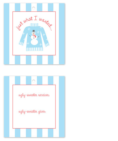 gift tags - Ugly Sweater by Megan Duran