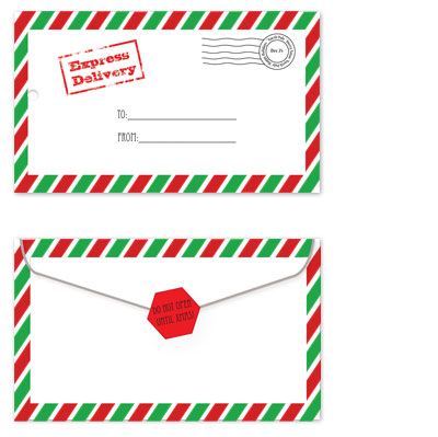 gift tags - Express Delivery from the North Pole by Leslie Rico