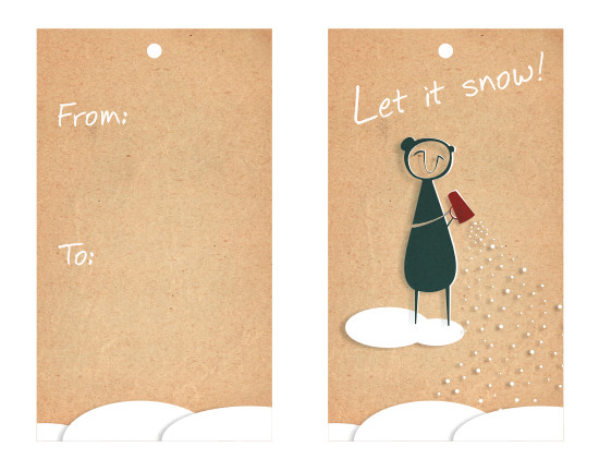 gift tags - let it snow! by SOPHiE
