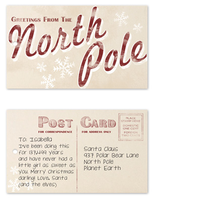 gift tags - Greetings from the North Pole by Katie Speelman