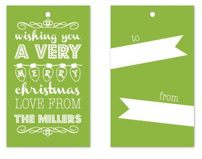 gift tags - Typo Christmas by KCB Design