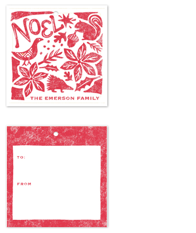 gift tags - Pastoral Noel by Griffinbell Paper Co.