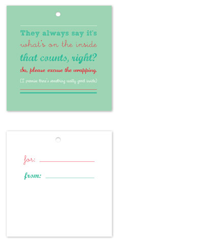 gift tags - It's What's on the Inside by Megan Duran